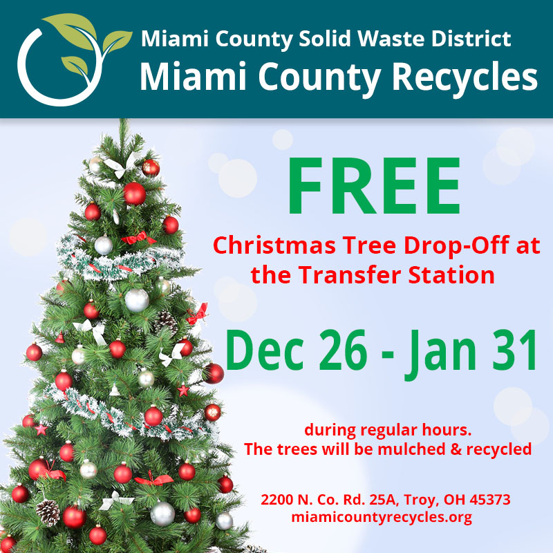 Miami County Solid Waste District - Christmas Tree Recycling